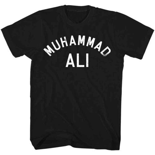 Muhammad Ali Vintage All Star Logo Hommes t shirt la légende de la Boxe Champion Noir