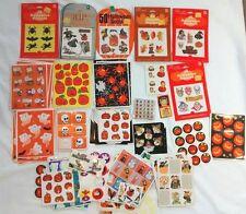 Vintage Halloween Stickers c 1980s Amscan Hallmark Garfield Peanuts Snoopy