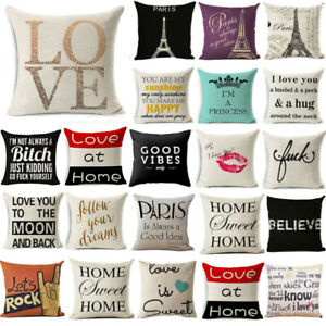 Funny-Words-Linen-Pillow-Cases-Cushion-Cover-Cover-Waist-Throw-Sofa-Home-Decor