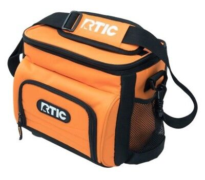 NIB RTIC 8 Can Orange Day Cooler Lunchbox Soft Pack 24 Hours Cold Lunch Box
