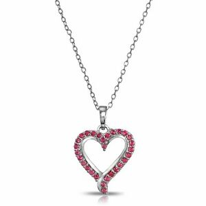 Sterling-Silver-Genuine-Ruby-or-Sapphire-Open-Heart-Necklace