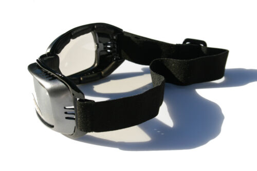 Gray Goggles clear lens Foam Padded Adjustable Strap Fog Vented Motorcycle SKI