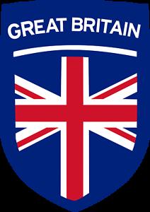 Set of 2 GREAT BRITAIN Crest Iron on Screen Print Transfers for Fabrics Machine Washable British Flag UK Union Jack Crest patch