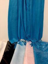 Women Soft PASHMINA SILK Classic  Shawl  Scarf Stole WRAP Blue