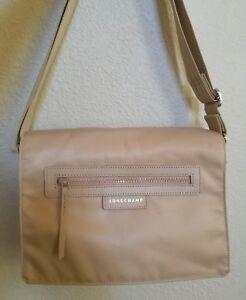 Details about New Longchamp Le Pliage Neo Messenger Crossbody Bag in Beige  Retail $295