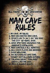All-Who-Enter-Man-Cave-Rules-Panneau-Metallique-Plaque-Metal-en-Etain-20-X-30-CM