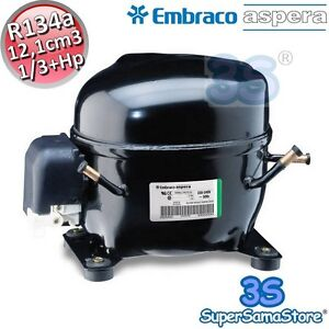 Amical 3s Motore Compressore Csir Nek6210z Frigo R134a 1/3+ Hp 12,1 Cc Embraco Aspera