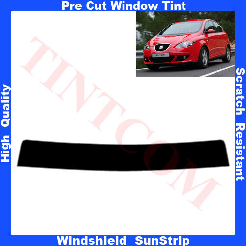 Pre Cut Window Tint Sunstrip for Seat Altea 5Doors Hatchback 2004-2009 Any Shade