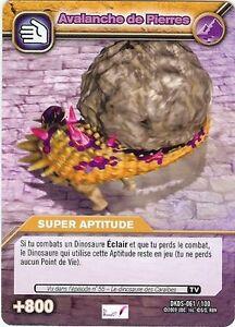 Carte card game dinosaur king dkds 61 100 avalanches de pierres aptitude vf ebay - Carte dinosaure king ...