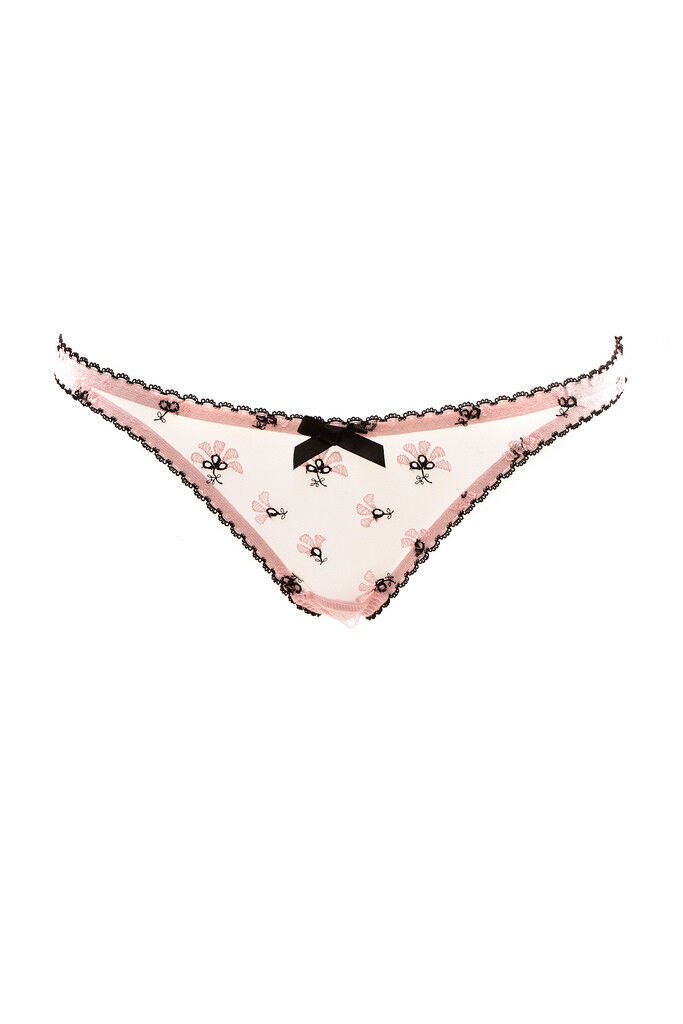 L'Agent by Agent Provocateur Women's Printed Elastic Brief Pink RRP  BCF87