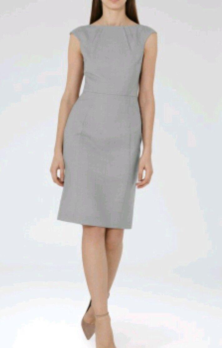 Designer Designer Designer REISS Kent fitted shift dress size 10 -BRAND NEW-knee length wool blend 683e01