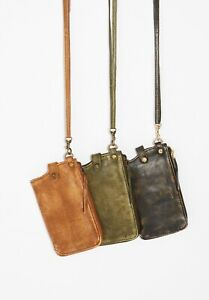NEW-Free-People-Distressed-Leather-iPhone-Wallet-Crossbody-Bag