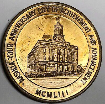 # C8135 Nashua, N. H. Bronze Town Medal, Centennial 1953