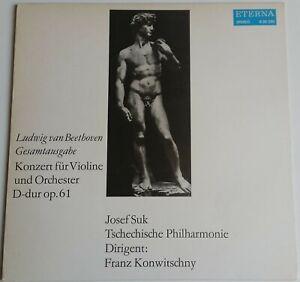 Beethoven Konzert für Violine und Orchester Suk Konwitschny Eterna Stereo 826220