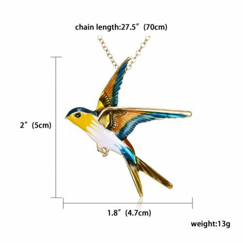 Cute Enamel Crystal Bird Butterfly Animal Brooch Pin Costume Badge Women Jewelry