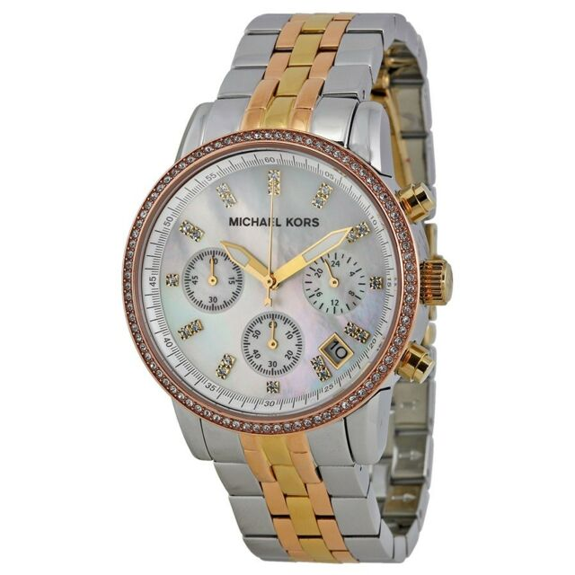 Michael Kors MK 5650 Women's Ritz Tri Tone Watch