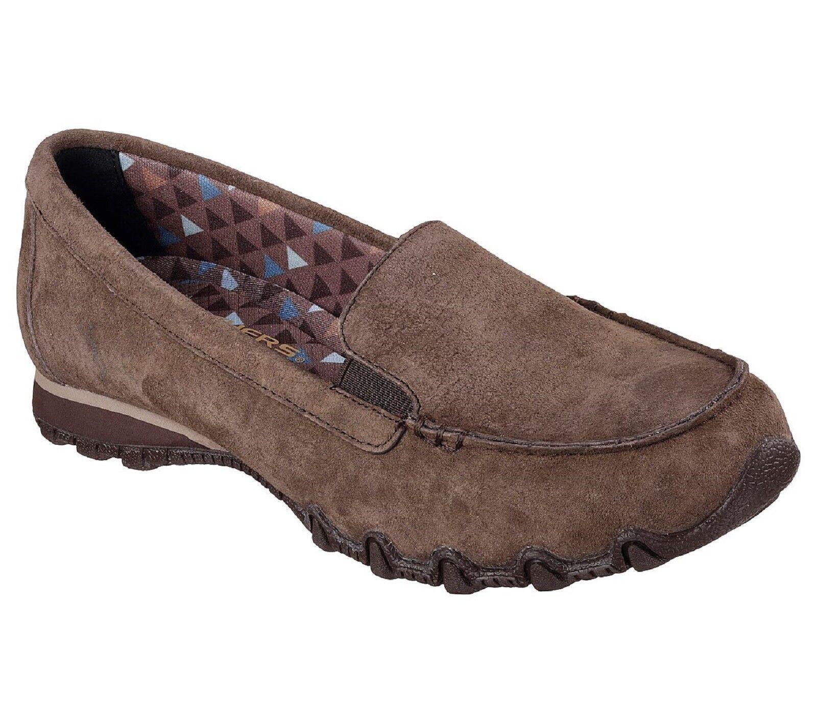 Skechers Ladies 'Roamer' Sin Cordones Zapatillas-Chocolate M NIB