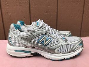 EUC NEW BALANCE 400 WR400WSB SHOE WHITE BLUE SILVER ATHLETIC WOMENS ... b732b5d5f