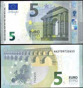 Image Is Loading NEW 5 EURO DESIGN EUROS MINT BANK NOTE