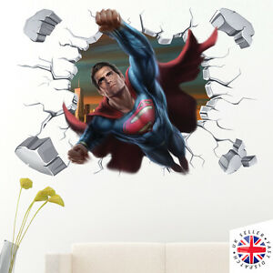 Ordinaire Image Is Loading 3D SUPERMAN Wall Sticker Decal Mural Art Bedroom
