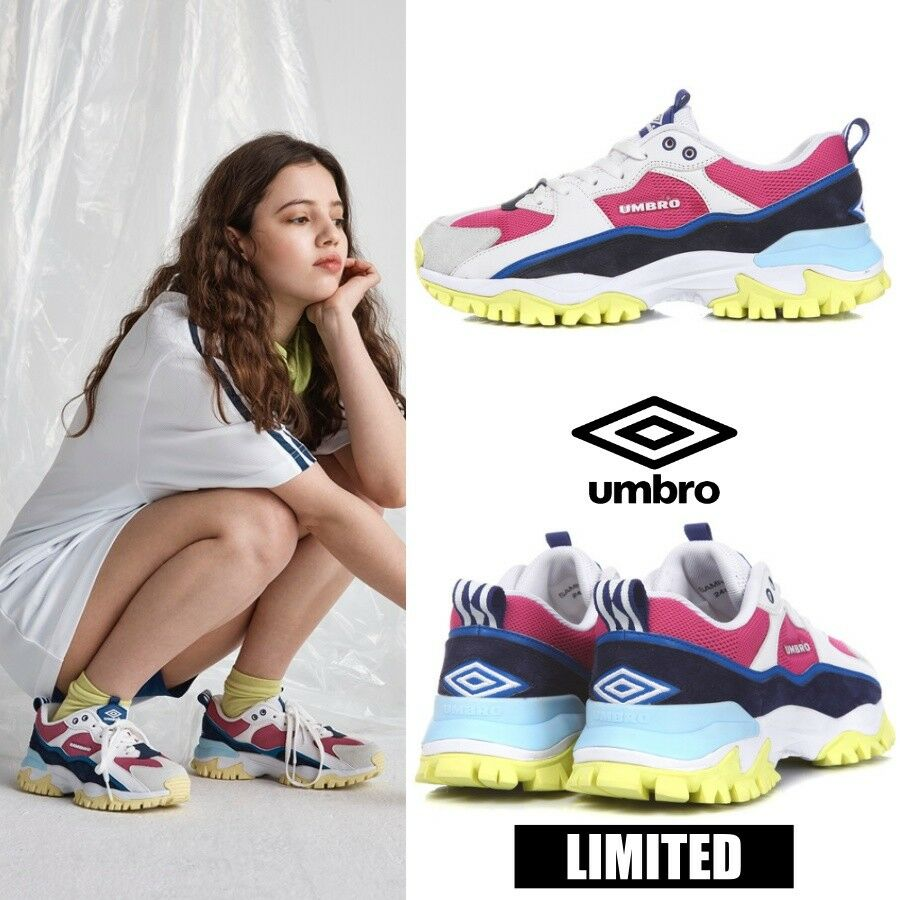 UMBRO Limited BUMPY Athletic  Shoes Pink Yellow Sz 220-290mm