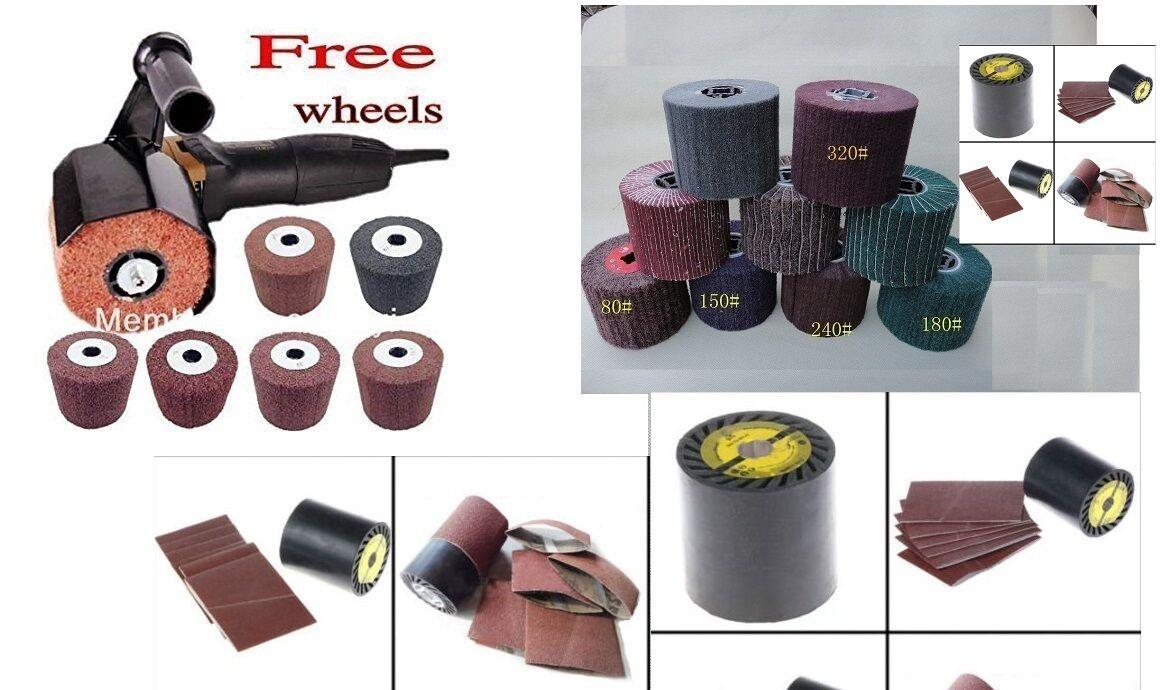 Burnisher Burnisher Burnisher 10 abrasive flap wheel + expansion roller 48 alumina Belt fits Metabo 618346