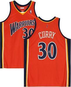 Stephen Curry Warriors Signed Orange 2009-10 Hardwood Classic Authentic Jersey