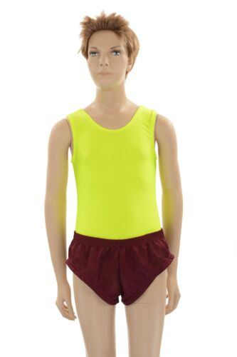 Mens Maroon Micro Mesh Polyester Booty Shorts Jogging Running  Sports Track Tri