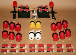 Arcade-Set-2-Mame-2-Joysticks-16-Taster-Jamma-Kit-Joystick