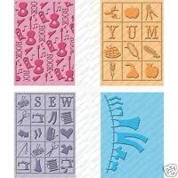 Cricut Cuttlebug Embossing Folders Country Life - Set Of 4