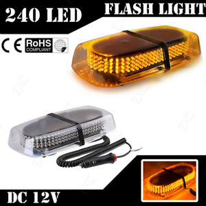 240-LED-Amber-Strobe-Light-Warning-Emergency-Flashing-Car-Truck-Vehicle-Safety