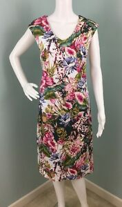 NWT-Womens-Catherine-Malandrino-Sleeveless-Floral-Sheath-Dress-Sz-12