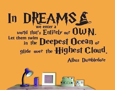 Harry Potter Humor Philosophy Quote Albus Dumbledore Wall Stickers Vinyl Decal