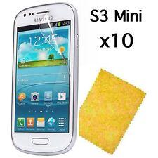 Samsung Galaxy S3 Mini Screen Protector & Cleaning Cloth Wholesale Job Lot x 10