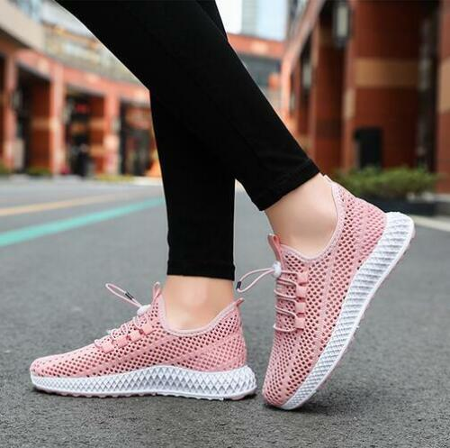 Details about  /Womens Mesh Lace up Outdoor Casual Athletics Shoes Breathable Training Sneakers