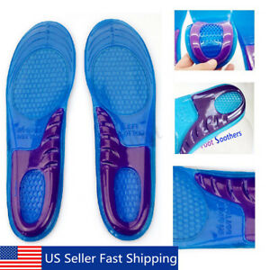 Silicone Gel Insoles Orthopedic Arch Support Shoe Foot Care Sport Run Cushion US