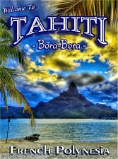 World Travel Sunset Paradise Print     NEW POSTER Bora Bora