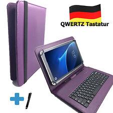 Deutsche Tastatur Hülle - Samsung Galaxy Tab A6 - 10.1 zoll Tasche Qwertz lila