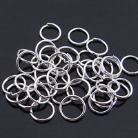 3/4/5/6/7/8/10/12/20MM Gold&Silver Plated 6 Colors Metal Single Split Jump Rings