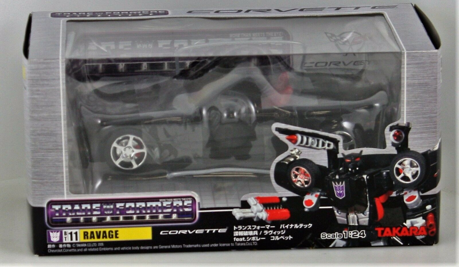 Transformers arrasan Binaltech BT11 Corvette Die Cast Juguete Takara 2005 Sellado 1 24