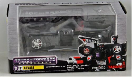 Transformers Ravage Binaltech BT11 Corvette Die Cast Toy Takara 2005 SEALED 124