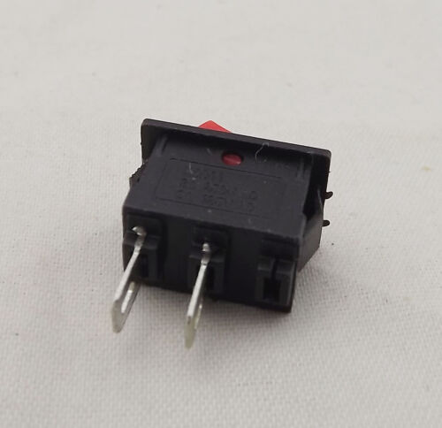 10pcs Rocker Power Switch ON//OFF Red Cap 2 Pins Single Way 3A 6A 15x10mm KCD11