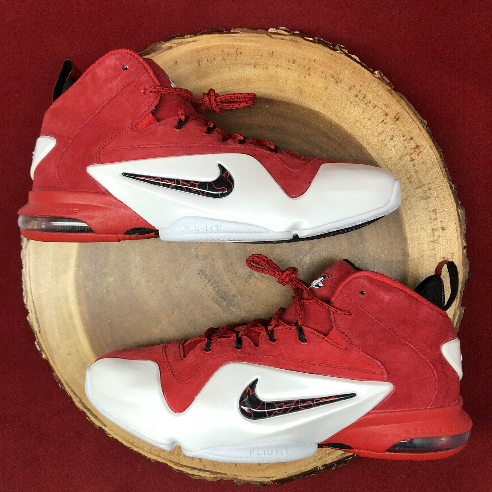 best service bf723 30468 Nike Air Zoom Penny VI University University University Red Size 10 749629  600 Foamposite Jordan I