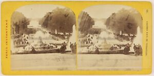 Grandi Eaux Da Versailles Francia Foto Stereo Th1L6n47 Vintage Albumina c1865
