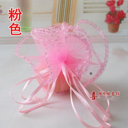 wholesale:new beautiful multicolor lightspot Wedding Net yarn candy  gift bags