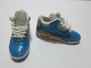 brand new 39f35 922de Details about 1/6 Scale Sneakers Shoes Trainers Air AJ3 Blue for 12