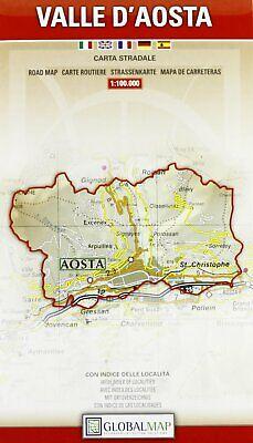 Cartina Stradale Valle D Aosta.Valle D Aosta Cartina Regionale Stradale 1 100 000 Carta Mappa Globalmap Ebay