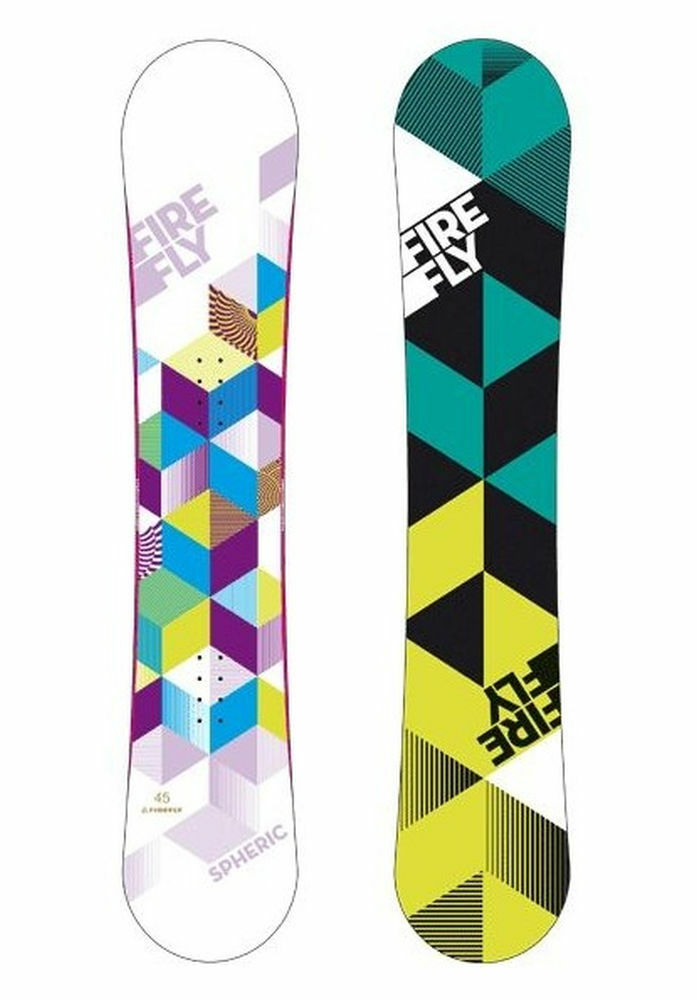 Original Firefly Spheric Women's  Snowboard White Purple Green + A5.5 Binding  welcome to buy
