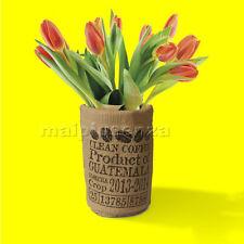 Invotis Vaso per fiori sacco di Caffè - IN1601 - sembra una sacca di juta
