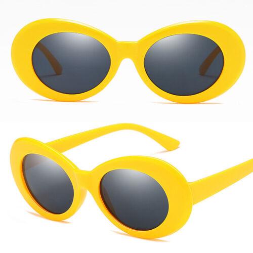 Women Retro UV400 Clout Goggles Sunglasses Oval Shades Outdoor Glasses  Gift